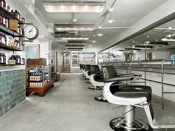 40 best barber shops images on pinterest barber shop barber chair and barbershop ideas - Barber shop interior ...