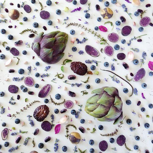 Amazing food patterns by Julie Lee