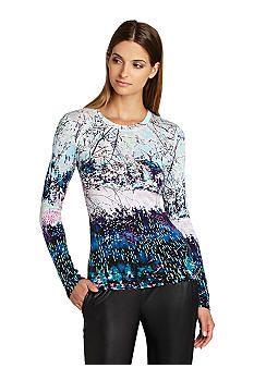 BCBGMAXAZRIA Agda Printed Knit Top