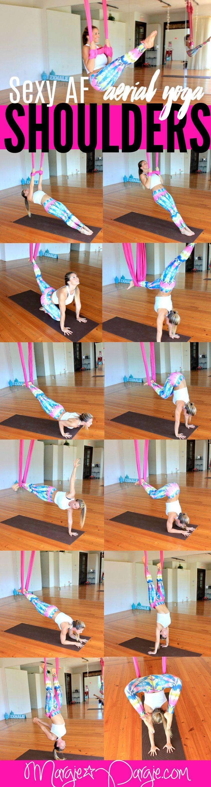 Aerial Yoga for Sexy AF Shoulders