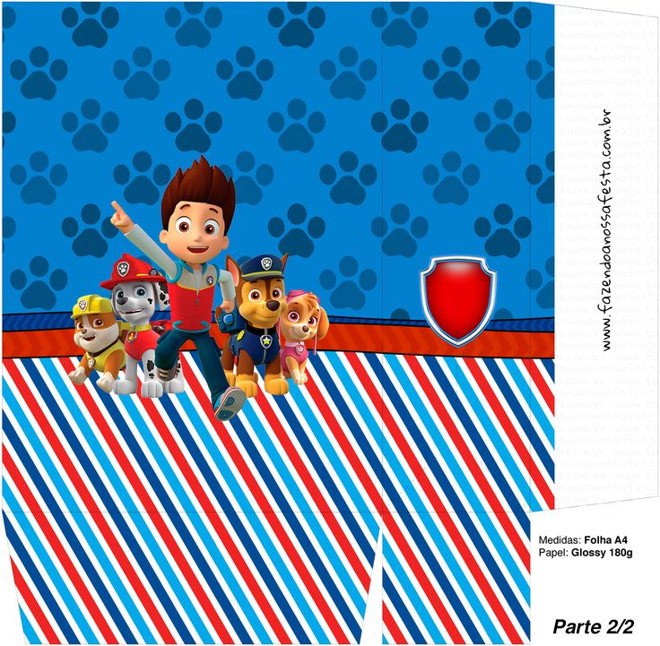 253 best lembranca images on Pinterest | Paw patrol party ...