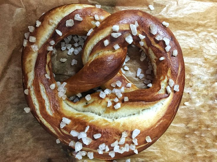 Pretzel with salt.