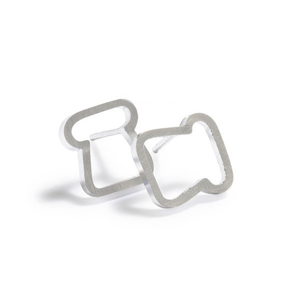 Toast Studs sterling silver