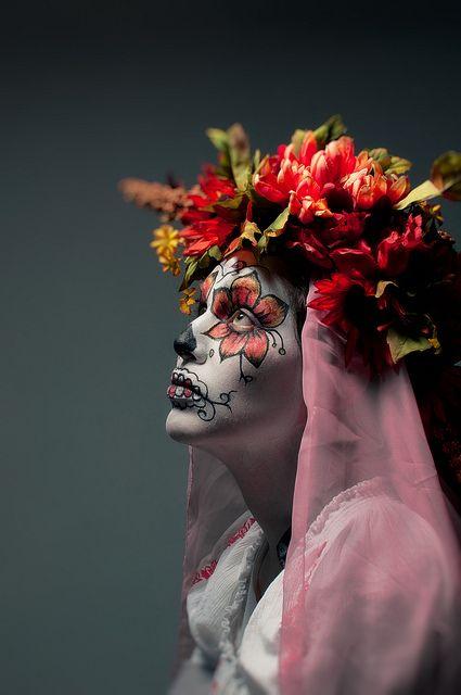Beautiful Sugar Skull Make Up. Dia De Los Muertos