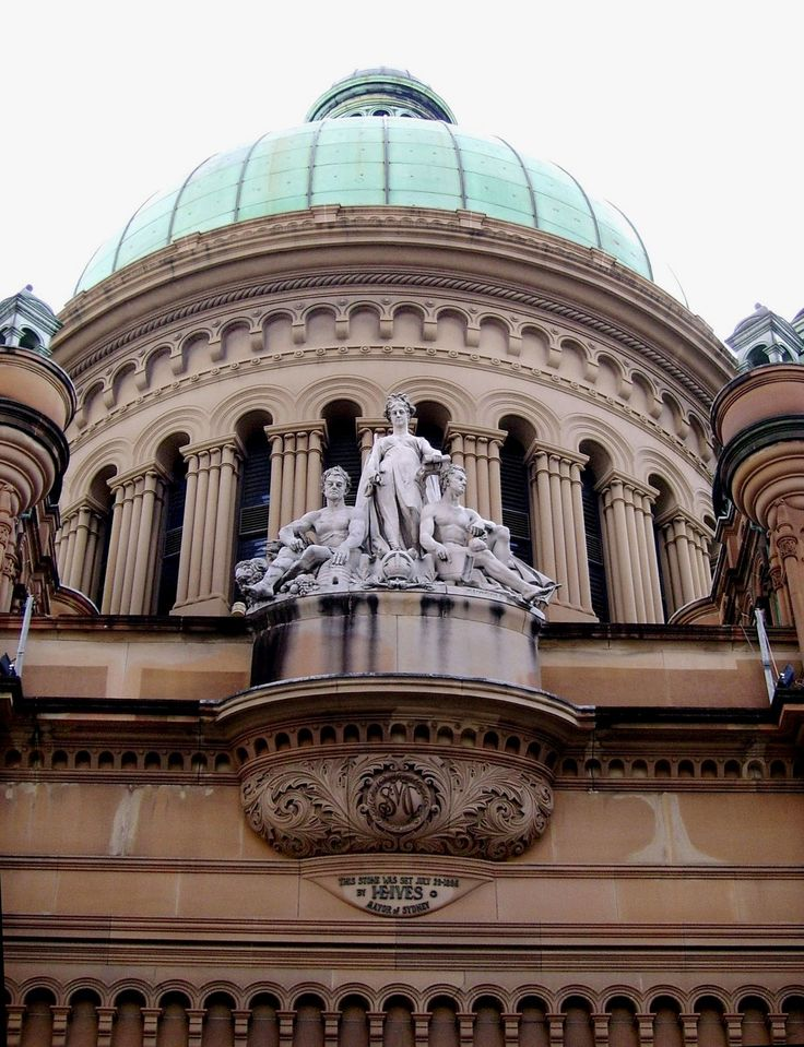 statues and dome- Queen Victoria Building - Sydney