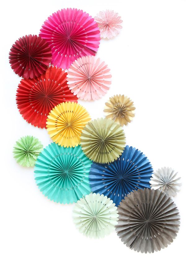 Handmade Paper Fans (Oh Happy Day!)