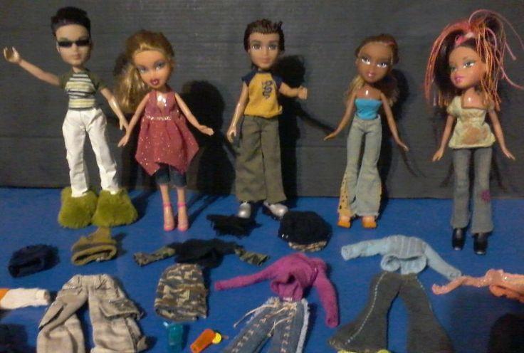 Bratz (4) 2001 (1) 2003 Original Dolls with Accessories and Extra Clothes Boy #Bratz #DollswithClothingAccessories