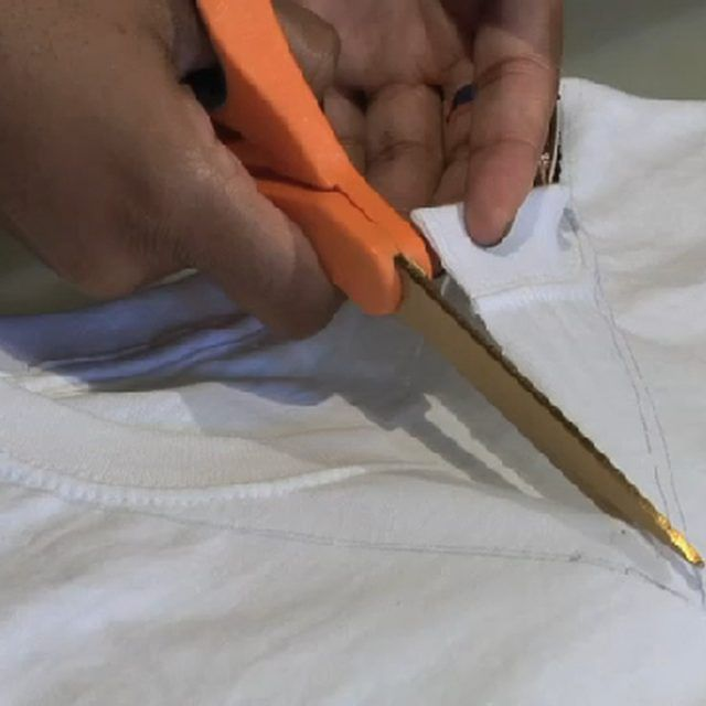How to Cut a Regular T-Shirt Into a V-Neck