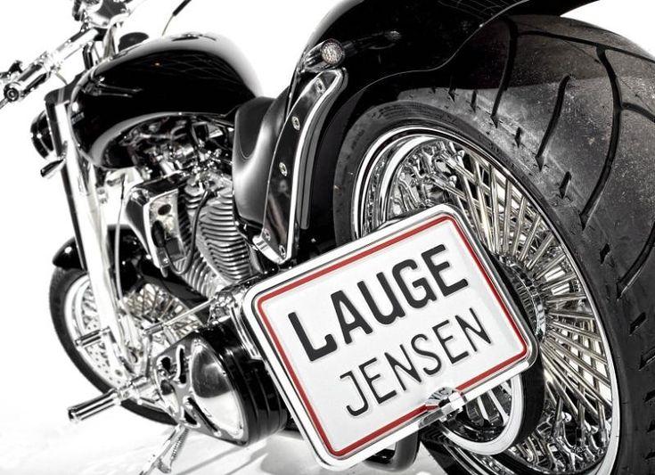 Lauge Jensen limited edition motorbike designed by A.Kahn Design