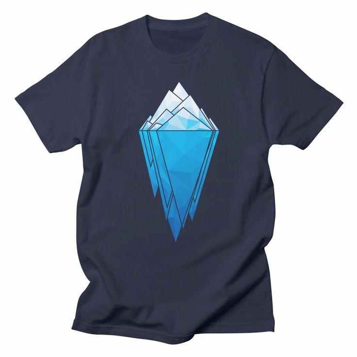 Antarctica, unisex navy blue t-shirt. #antarctica #minimal #geometric #nature #climatechange #globalwarming #ecofriendly #ecofashion #eco #earth #tshirt #tshirtdesign #apparel #clothing #menswear #womensfashion #blue