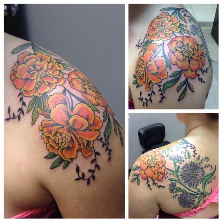 best 25 marigold tattoo ideas on pinterest forearm flower tattoo birth flowers and flower. Black Bedroom Furniture Sets. Home Design Ideas