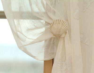 Faux Seashell Tie Backs By Donna Elle Design Shop Decor