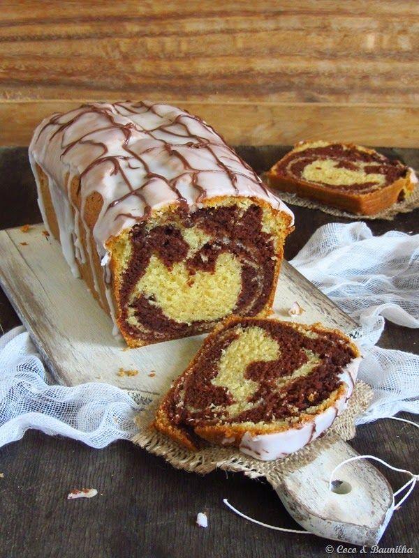 Coco e Baunilha: Bolo mármore e chocholate e baunilha / Chocolate & vanilla pound cake