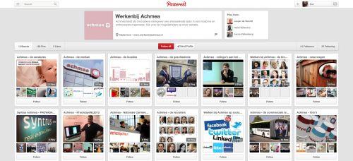 5. Branding van werkgever Achmea gaat ver in zijn presentatie op Pinterest. Het bedrijf bewijst dat beeld zich bij uitstek leent om zich als een leuke werkgever te positioneren. Natuurlijk is er een prikbord met vacatures, maar er zijn ook prikborden over de geschiedenis van het bedrijf, de locaties, de merken die Achmea heeft, de recruiters van het bedrijf. Achmea heeft zelf een fun-board.