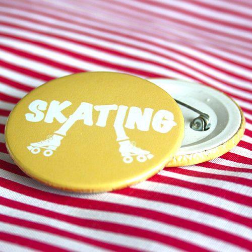 Bottom: Patins skating amarelo 3,5cm - R$2,00   4,5cm - R$3,00 Skating botton