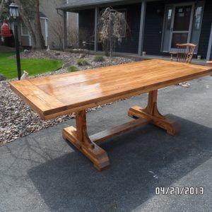 Trestle Kitchen Table Plans