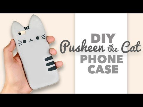 DIY   How to make a Pusheen the Cat Phone Case - Collab with DebbyArts! - YouTube