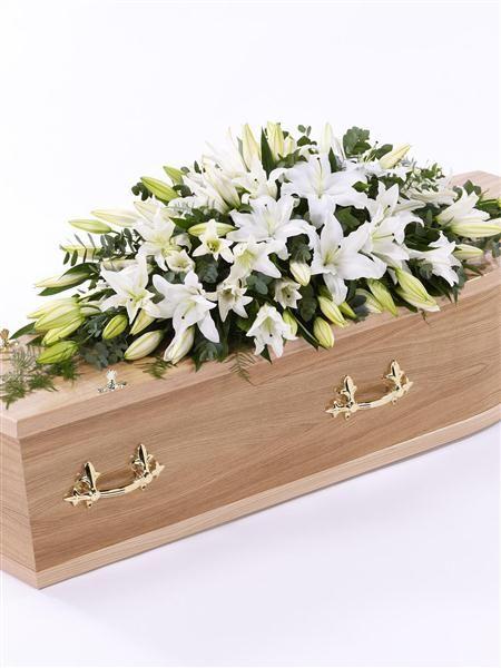 Calla Lily Casket Spray For Funeral Photos