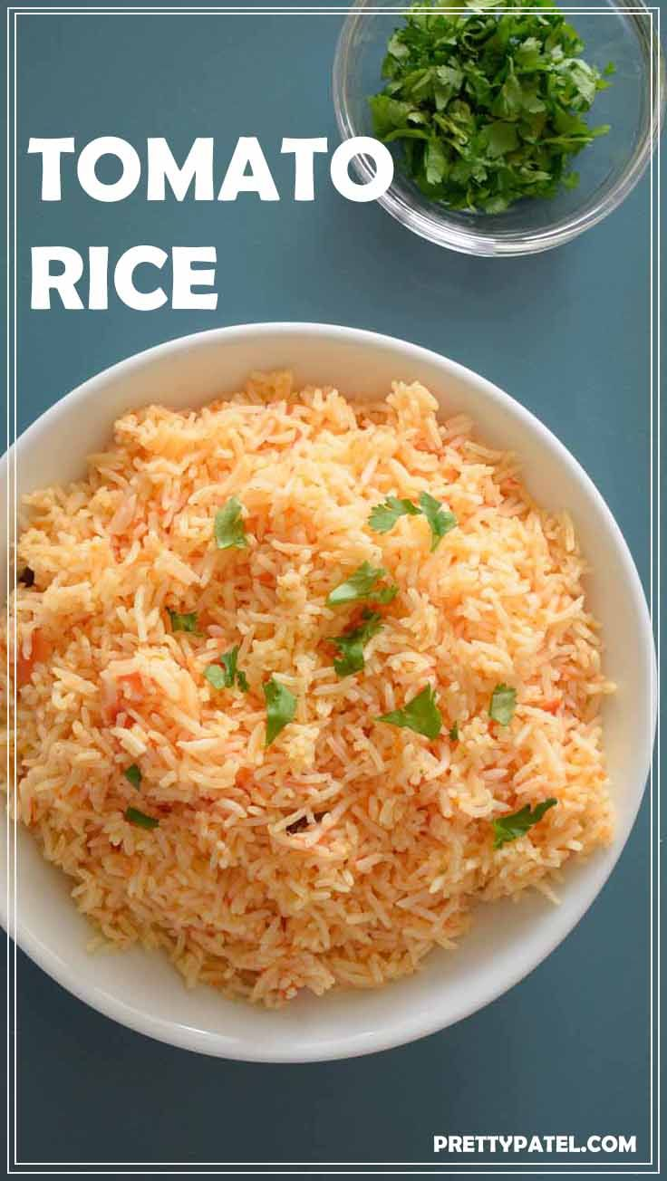 This tomato rice recipe is super flavoursome and only takes 20 minutes to cook. Follow this simple and easy recipe for fluffy tomato rice. A vegan and gluten free recipe     via @pretty_patel