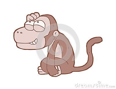 Cartoon about monkeys with smiling faces