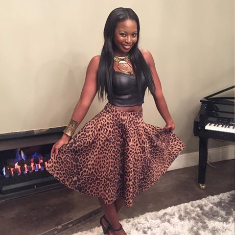 The stunning #Nambitha @LadyNam in her #leopard print #Nicci skirt