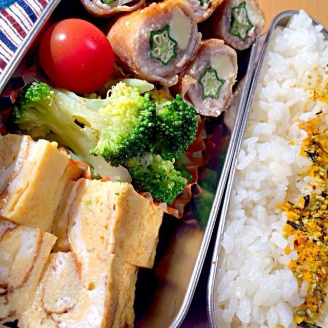 おはようございます☀️ - 9件のもぐもぐ - 豚肉おくらチーズ巻き、ブロッコリーナムル、ミニトマト、青葱卵焼き。 by seabreeze