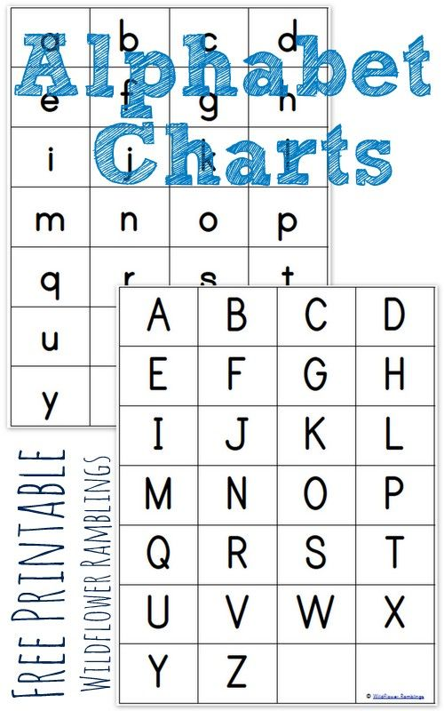 Impertinent image for abc printable chart