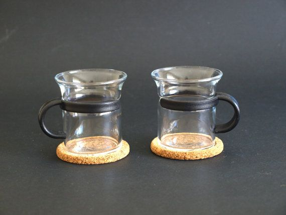 Bodum Glass Espresso Cups Demi Tasse with Black by FunkyKoala