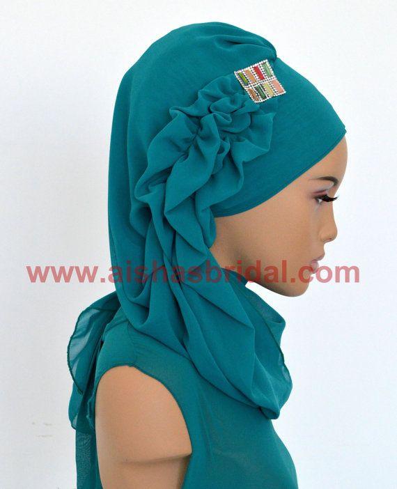Ready To Wear Hijab  Code: HT-0243  Hijab Muslim by HAZIRTURBAN