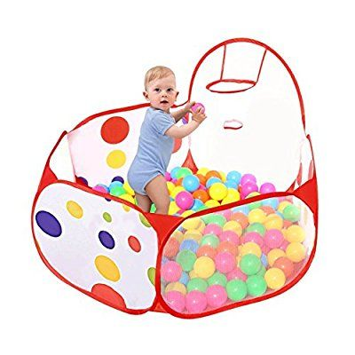 Piscine à Balles pour Enfants, Taotree Océan Boule Piscine Portable Tente de Jeu avec Panier de Basket(1.5M, Pas de Balles)