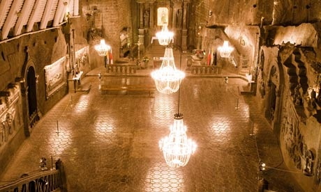 The Royal Salt Mine in Wieliczka, near Cracow  Beauty carved from rock-salt
