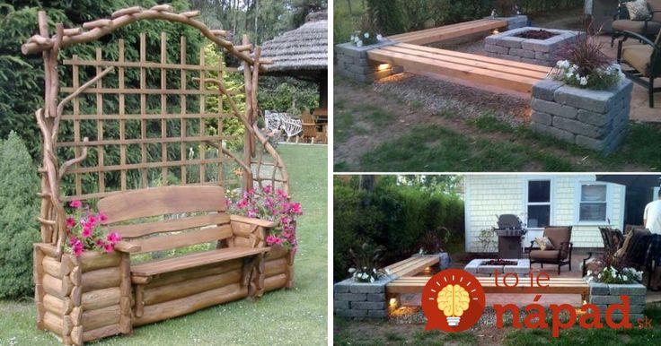 Krásne nápady na záhradné sedenie, ktoré si šikovní ľudia zhotovili celkom sami. Neváhajte a inšpirujte sa skvelými nápadmi.