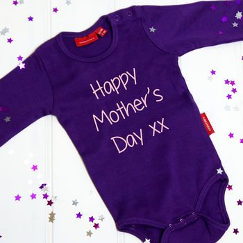 Personalised First Mother's Day Babygrow