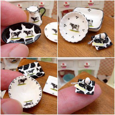 Parijse Miniaturen: Koe-achtig leuk. #Koe #miniatuur #Servies #Keuken #decor #design