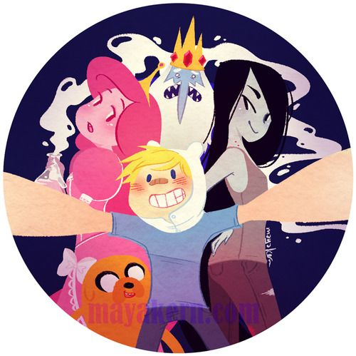 Adventure time with finn and jake button by Maya Kern