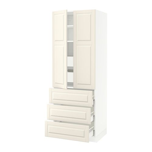 SEKTION High cabinet w/2 doors & 5 drawers IKEA FÖRVARA drawer can be pulled out to ¾ of its total depth and has plenty of storage space.