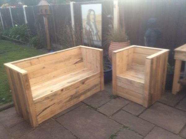 Recycled Pallet Garden Bench Plans | Recycled Pallet Ideas