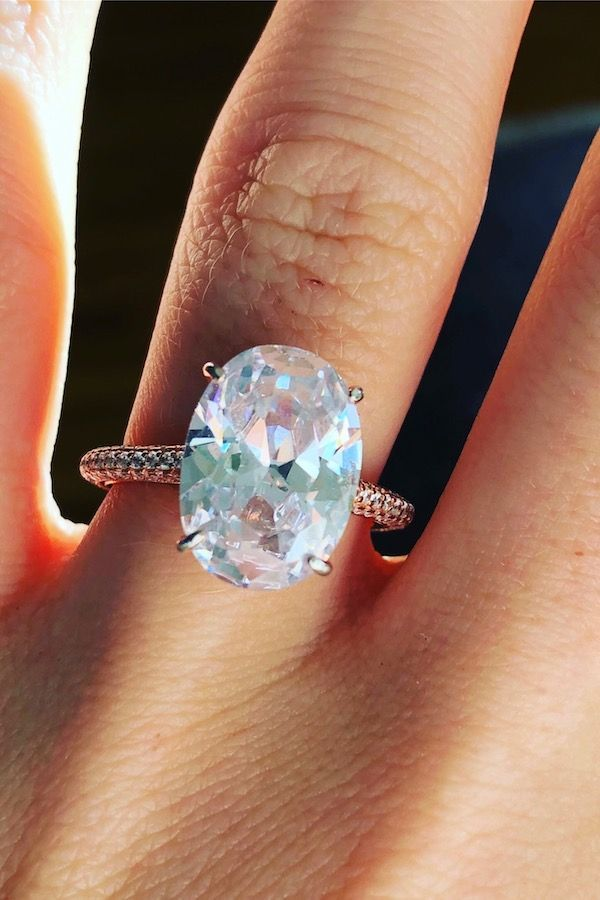 5 Carat Oval Cut Solitaire Simulated Diamond Replacement Rings