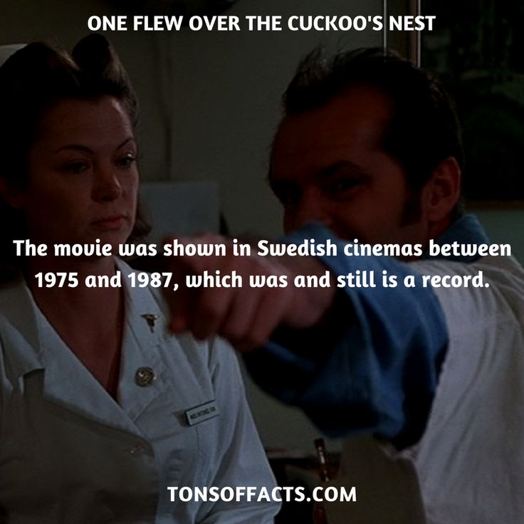 The movie was shown in Swedish cinemas between 1975 and 1987, which was and still is a record. #oneflewoverthecuckoosnest #movies #interesting #facts #fact #trivia #awesome #amazing #1 #memes #moviefacts #movietrivia #oneflewoverthecuckoosnestfacts #oneflewoverthecuckoosnesttrivia
