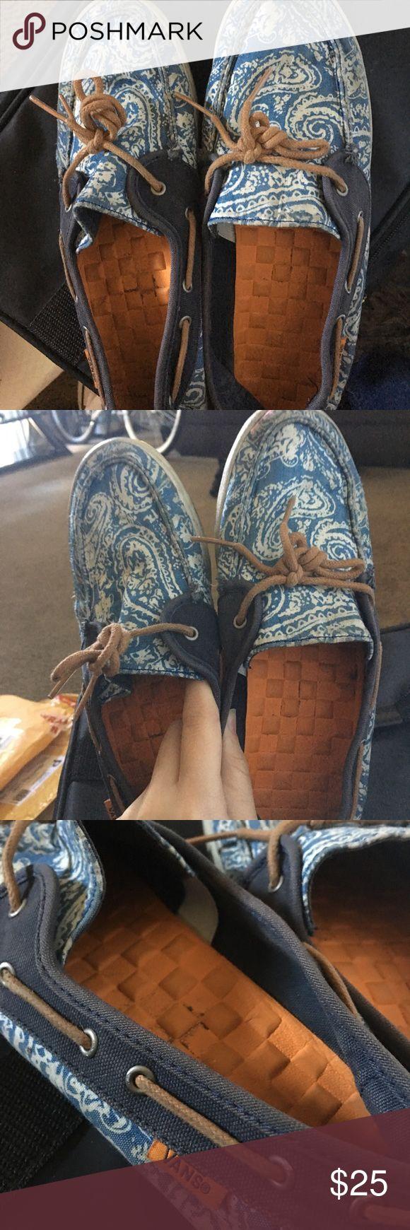 VANS Boat Shoe Style Rare Paisley print boat shoe Authentic Vans Vans Shoes Sneakers