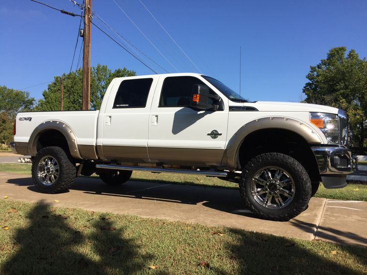 real nice lifted white Ford F-150 truck | Ford F150 Trucks ...