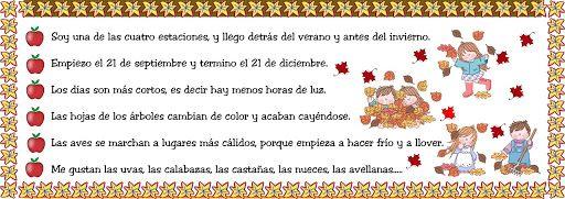 MAESTRA DE INFANTIL. : Características del otoño