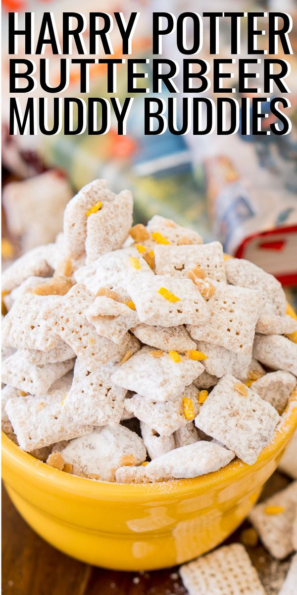 Harry Potter Muddy Buddies Harry Potter Butter Beer Harry Potter Snacks Chex Mix Recipes