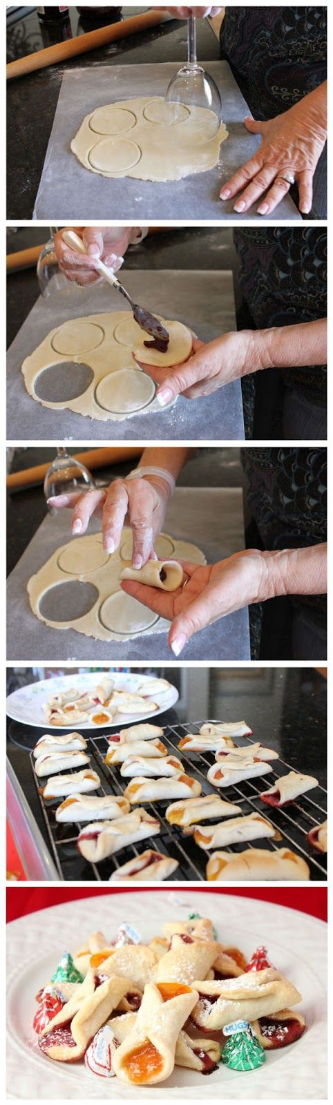 Cream Cheese Cookies  Ingredients:  •2 sticks of salted butter, softened •2 ½ cups flour •8 oz cream cheese, softened •1 (15-18 oz jar) of Jam or Preserve of your choice (do not use jelly) •You will also need: •Wax paper •Rolling pin •Optional-Silicone Cookie Sheet liner (Makes for easy cleanup)