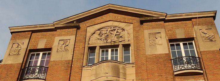 Art Deco building.Main plaza, Saint Quentin, Aisne, France