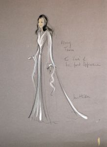 Costume design for Mary Tamm as Romana (preliminary sketch)