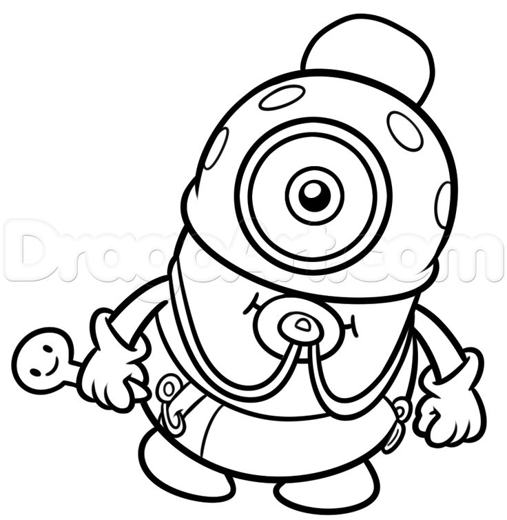 how to draw baby minion step 11 Minion Baby drawing