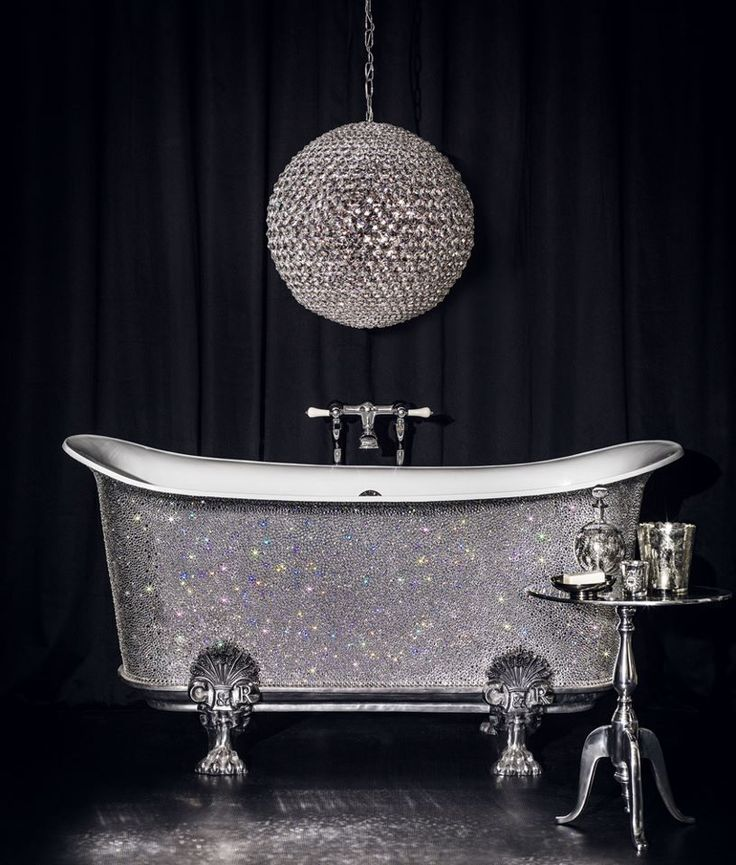Swarovski crystal bathtub