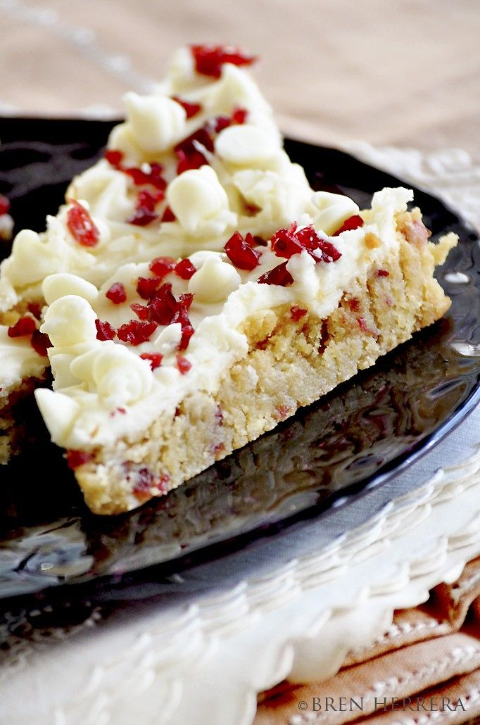 CRANBERRY BLISS BARS : Goes with my theme and it reminds me of my dad
