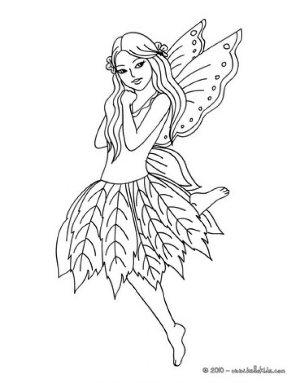 Cute Fairy Printable Coloring Pages